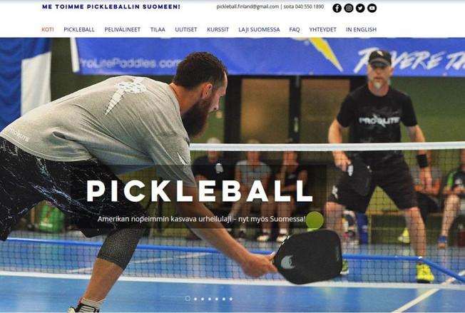 Pickleball Finlandin uudet nettisivut auki