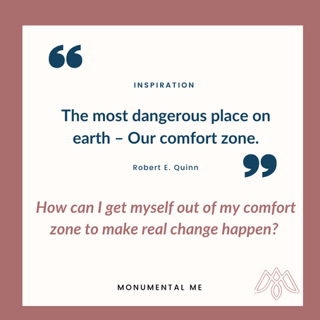 The most dangerous place on earth – Our comfort zone