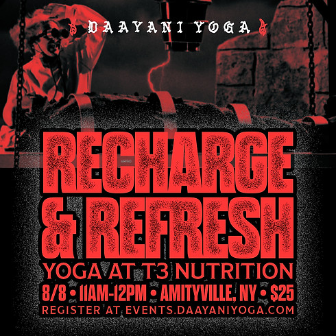 Recharge & Refresh Yoga at T3 Nutrition