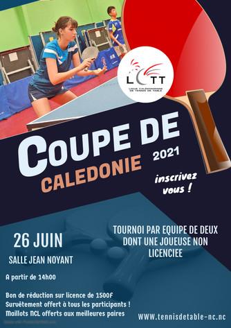 #LCTT Coupe de Calédonie : 26 Juin 2021 - Tournoi par Equipe