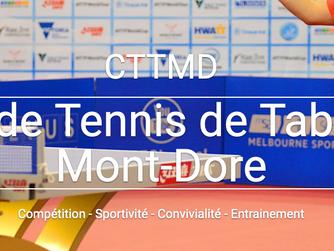 #CTTMD Devenez licencié(e) au Club de Tennis de Table du Montdore