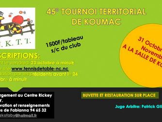 NCL Elite Tour : Inscriptions ouvertes pour le tournoi de l'Impassible Nord Koumac TT