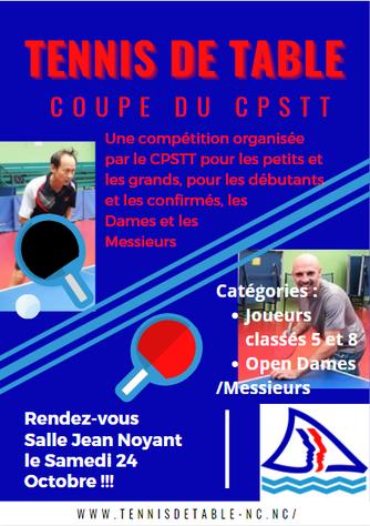 Coupe CPSTT : Inscriptions ouvertes pour la Coupe Provinciale Sud