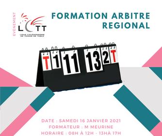LCTT : Inscriptions ouvertes pour les formations d' arbitre Régional et de Juge Arbitre 1