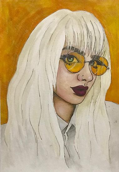 yellow fine art print
