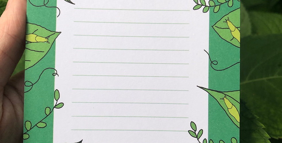 Monstera Slug Memo Pad