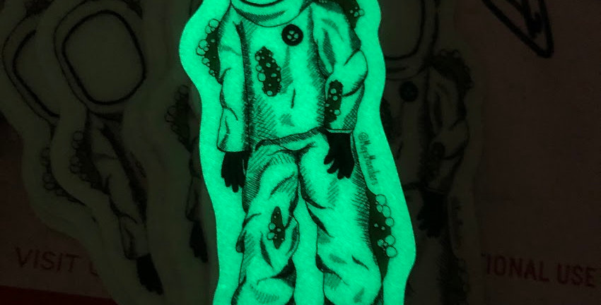 Hazmat Guy Glow-In-The-Dark Stickers
