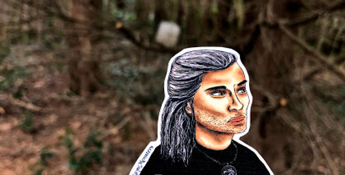 "The Witcher Geralt ""Hmm"" Sticker"