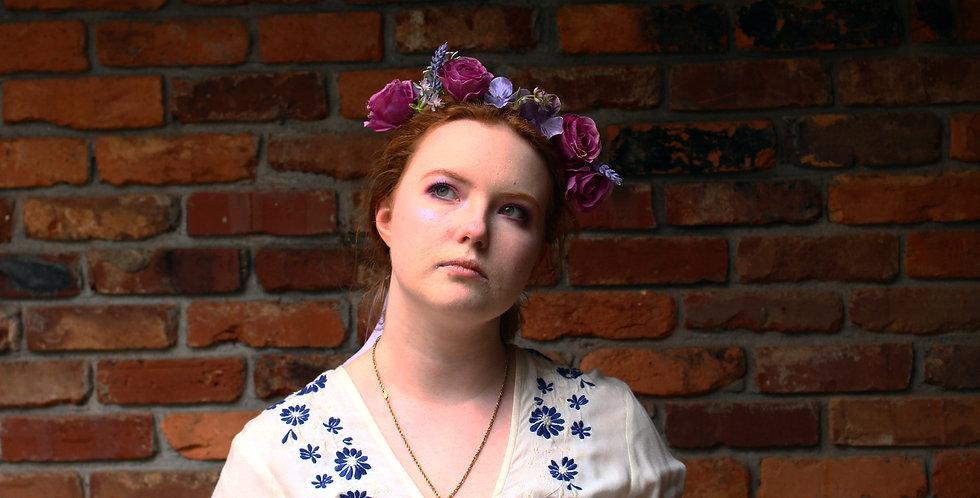 Braided Purple Floral Crown