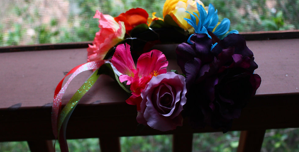 Light Up Rainbow Floral Crown