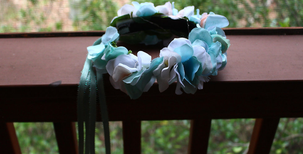 Light Up Baby Blue Floral Crown
