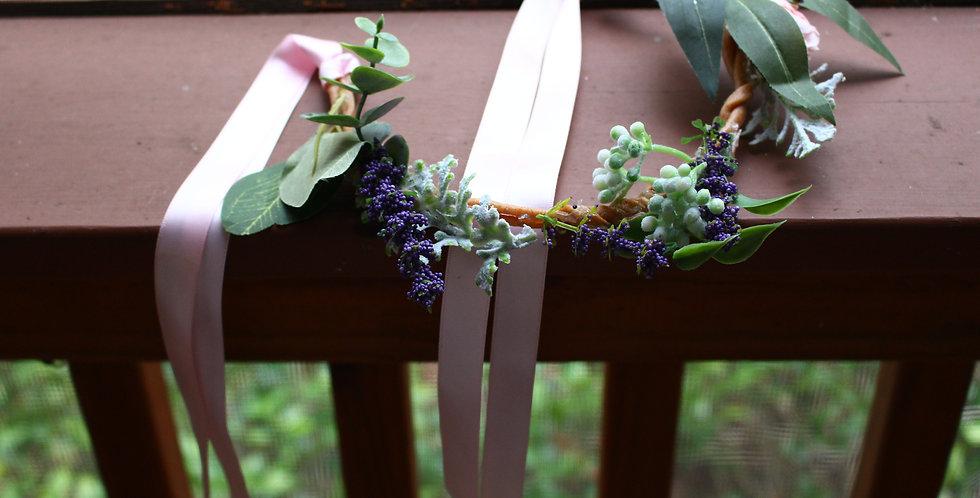 Braided Lavender Floral Crown