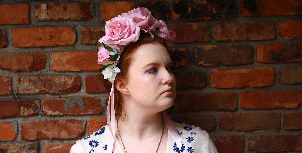 Large Pink Light Up Floral Crown