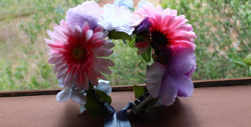 Light Up Pastel Floral Crown