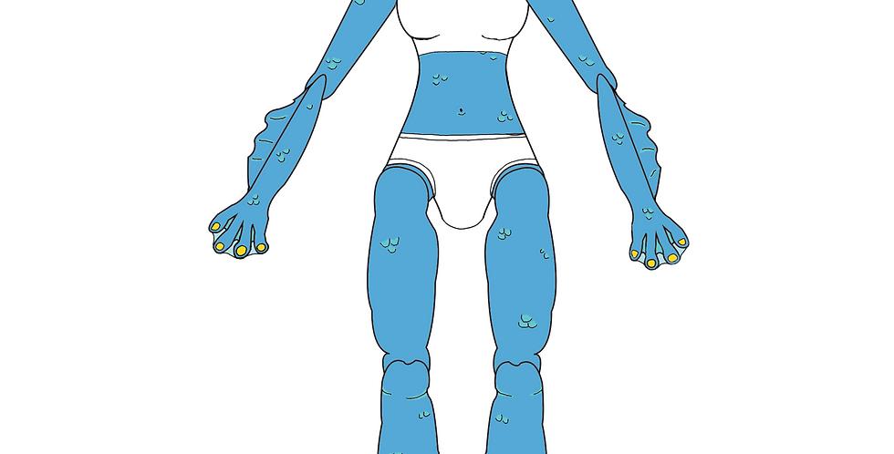 Swamp Girl Paper Doll