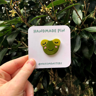 Handmade Frog Pin
