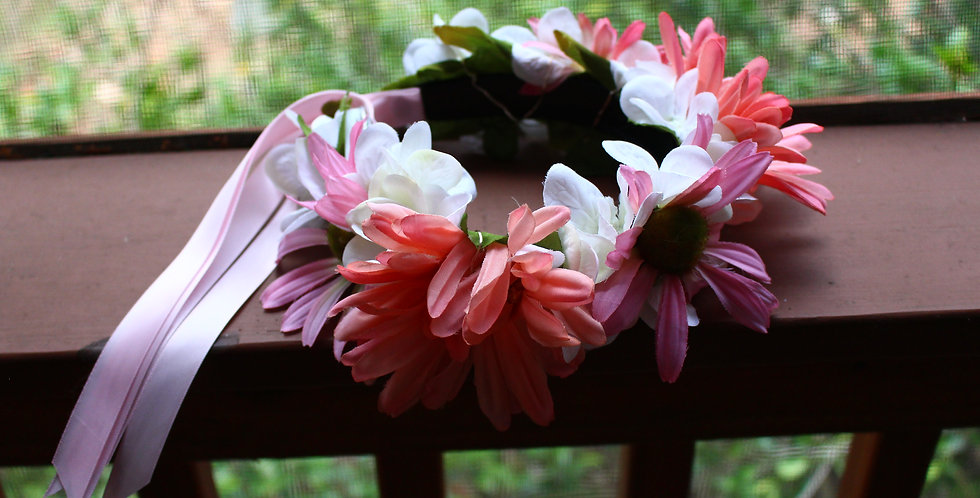 Pink Echinacea Light Up Floral Crown