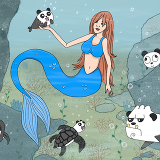 "Summer Art Contest Entry - ""Mermaid Sam"""