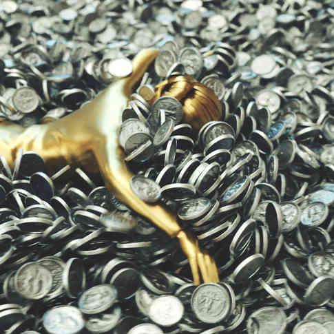 Swimming in money