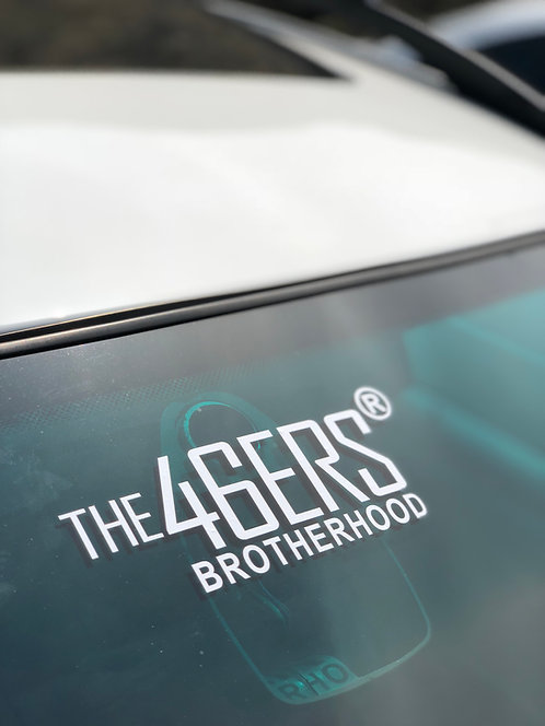 THE 46ERS Official Medium Windshield Decal