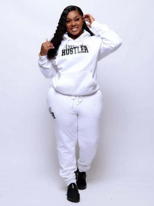 White CurvyHustler Sweatsuit