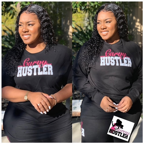 The Curvy Hustler Tee and Crewneck Set