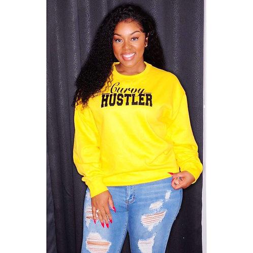Yellow Curvy Hustler Sweatshirt