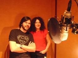 Grabando con Manuel Cuesta