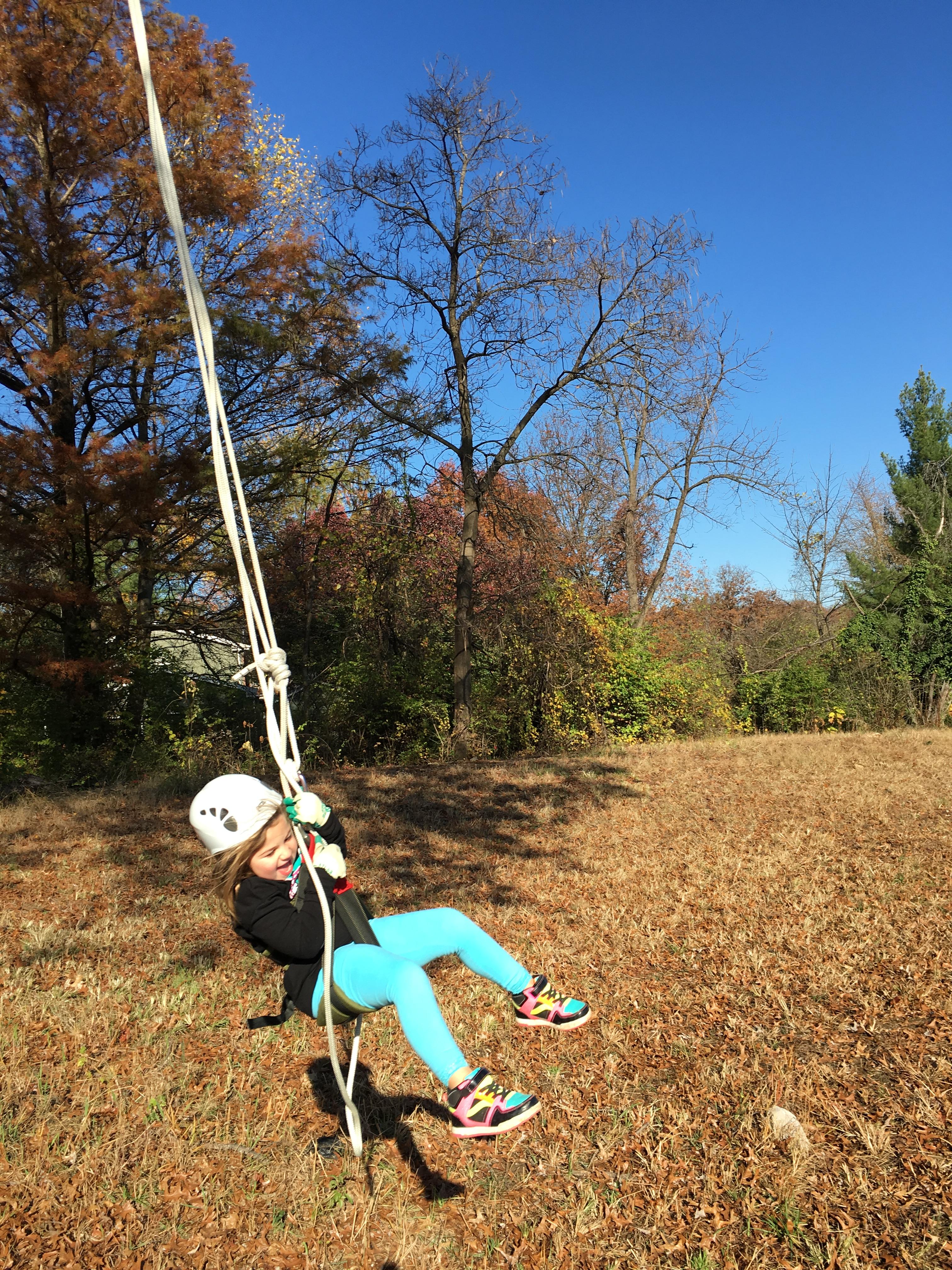 swinging from the great oak tree