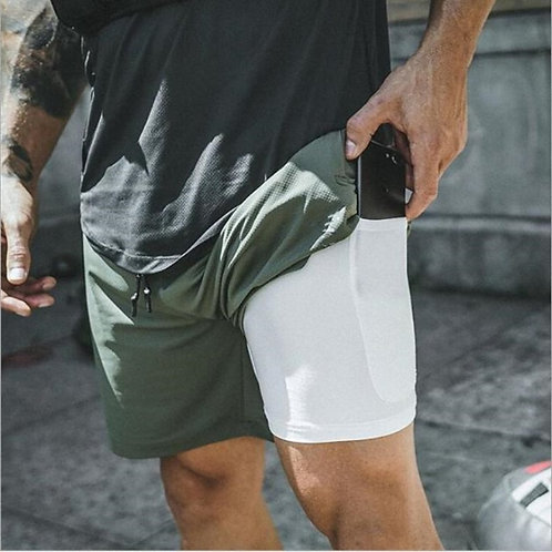 Running Shorts Security Pockets Leisure Shorts Quick Drying Sport Shorts