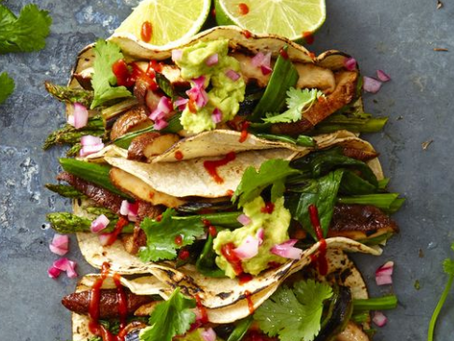 Great Recipes Series - Vegan - Grilled Asparagus and Shiitake Tacos