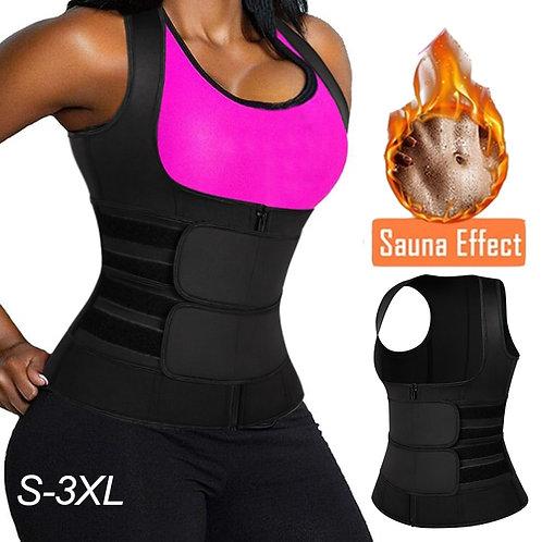 Waist Trainer Corset Sweat Sauna Vest for Women Waist Trimmer Belt Slimming