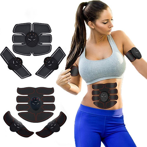 FOUAVRTEL EMS Muscle Trainer Muscle Toner Electronic Body Exerciser