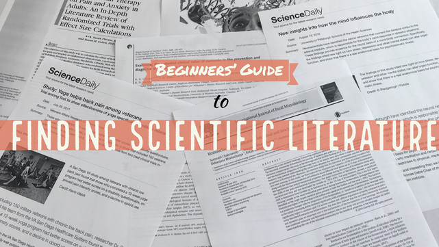 Beginners' Guide to Finding Scientific Literature