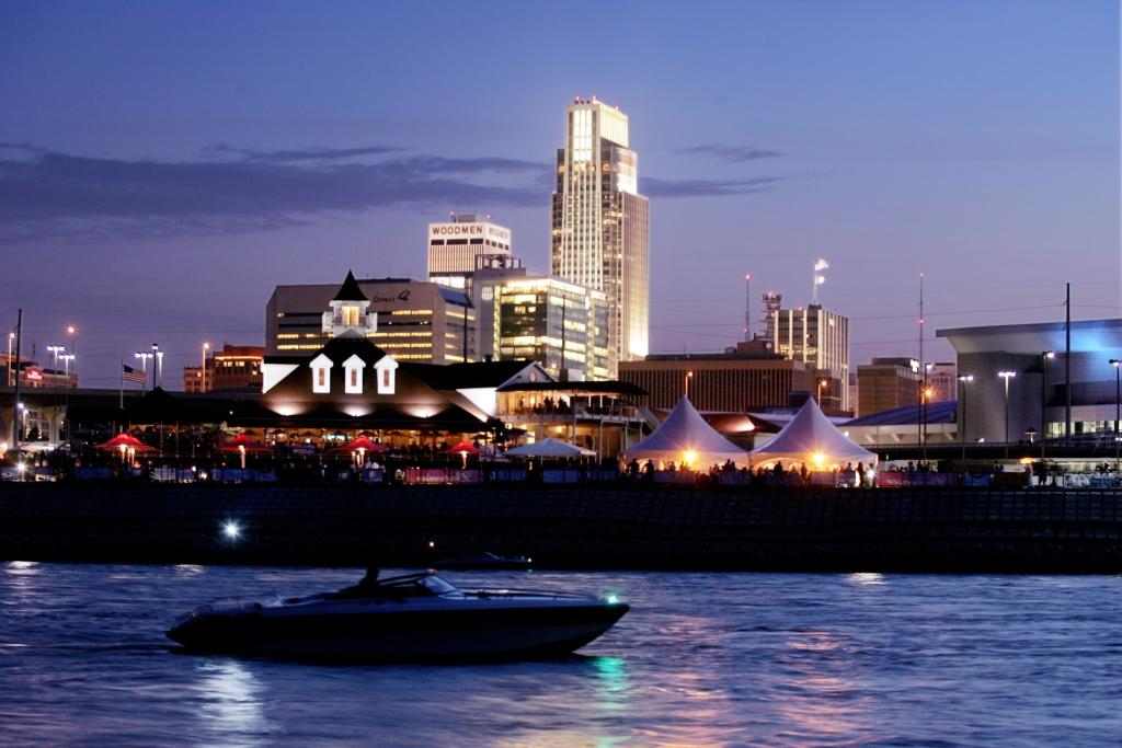 Omaha Skyline from River
