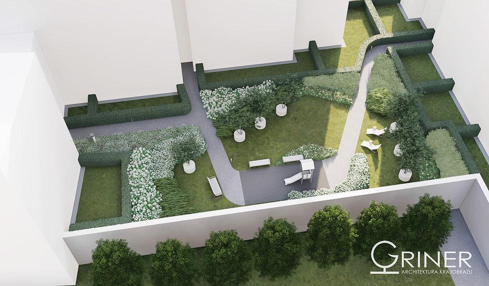 koncepcja zieleni na osiedlu w Warszawie