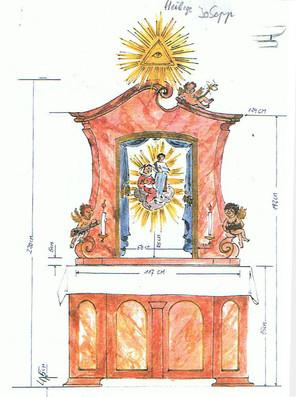 Plan für Hl. Familien-Altar