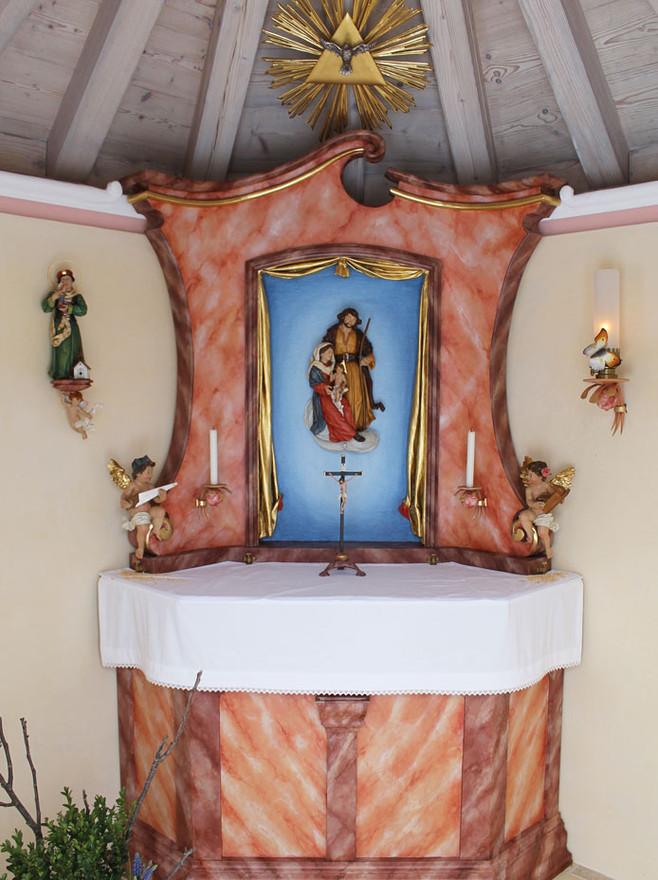 Altar in der Kapelle zur Hl. Familie