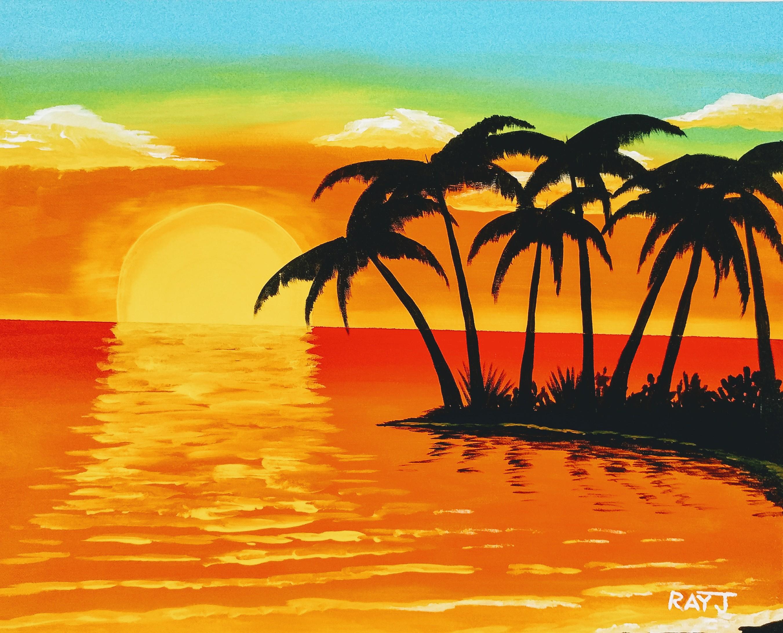 TROPICAL BEACH SUNSET