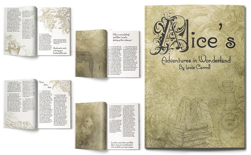 Alice in Wonderland book design