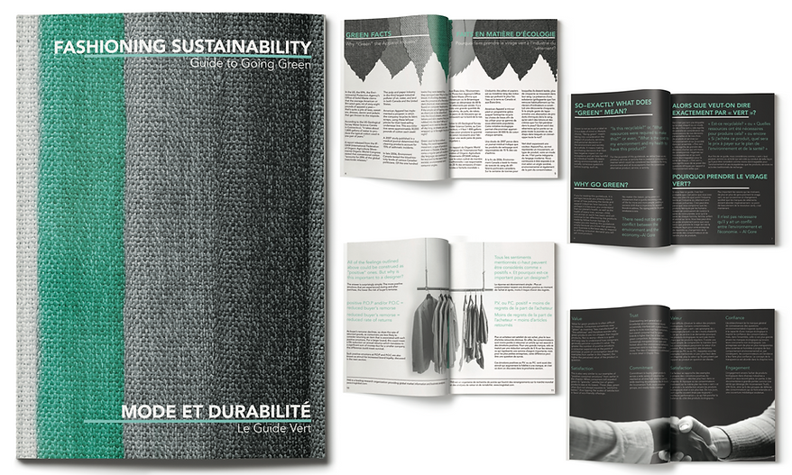 Booklet of Fashioning Sustainability
