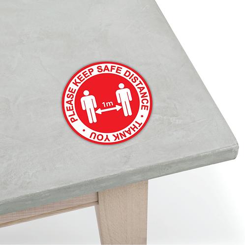 Table Sticker - COVID-19 Message