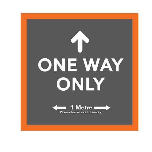 ONE WAY ONLY - floor graphic