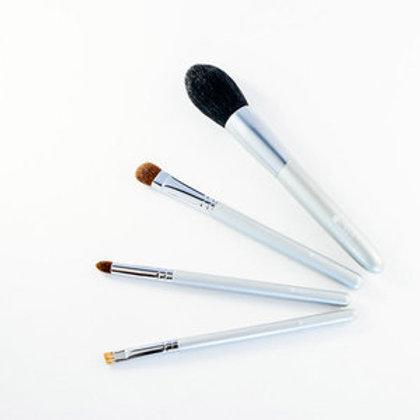 熊野筆4本セット 【眉、ツクシ、平、チーク筆】