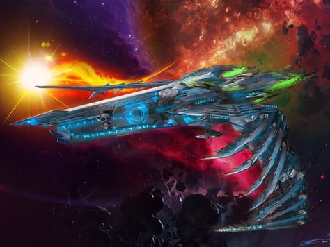 Raven II - holy powered spaceship