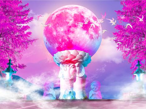 """""""Buddha Luna"""" by David Loblaw"""