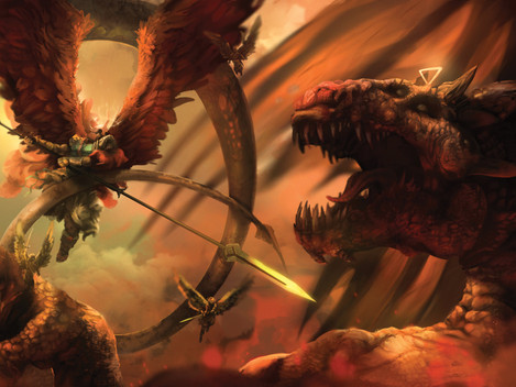 """St. Michael vs Dragon"" by Jerry Padilla"