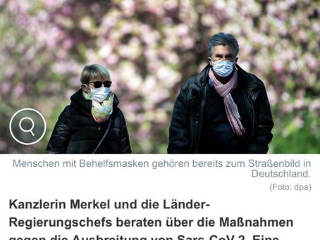 """Bund empfiehlt """"dringend"""" Masken."""
