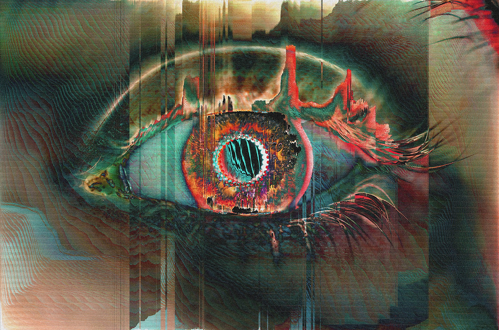 """Created for MakersPlace's """"The 100 Day Project"""". Day 85: WINDOWS TO THE SOUL. Digital Photo-Manipulation, 6039×4000 Pixels."""