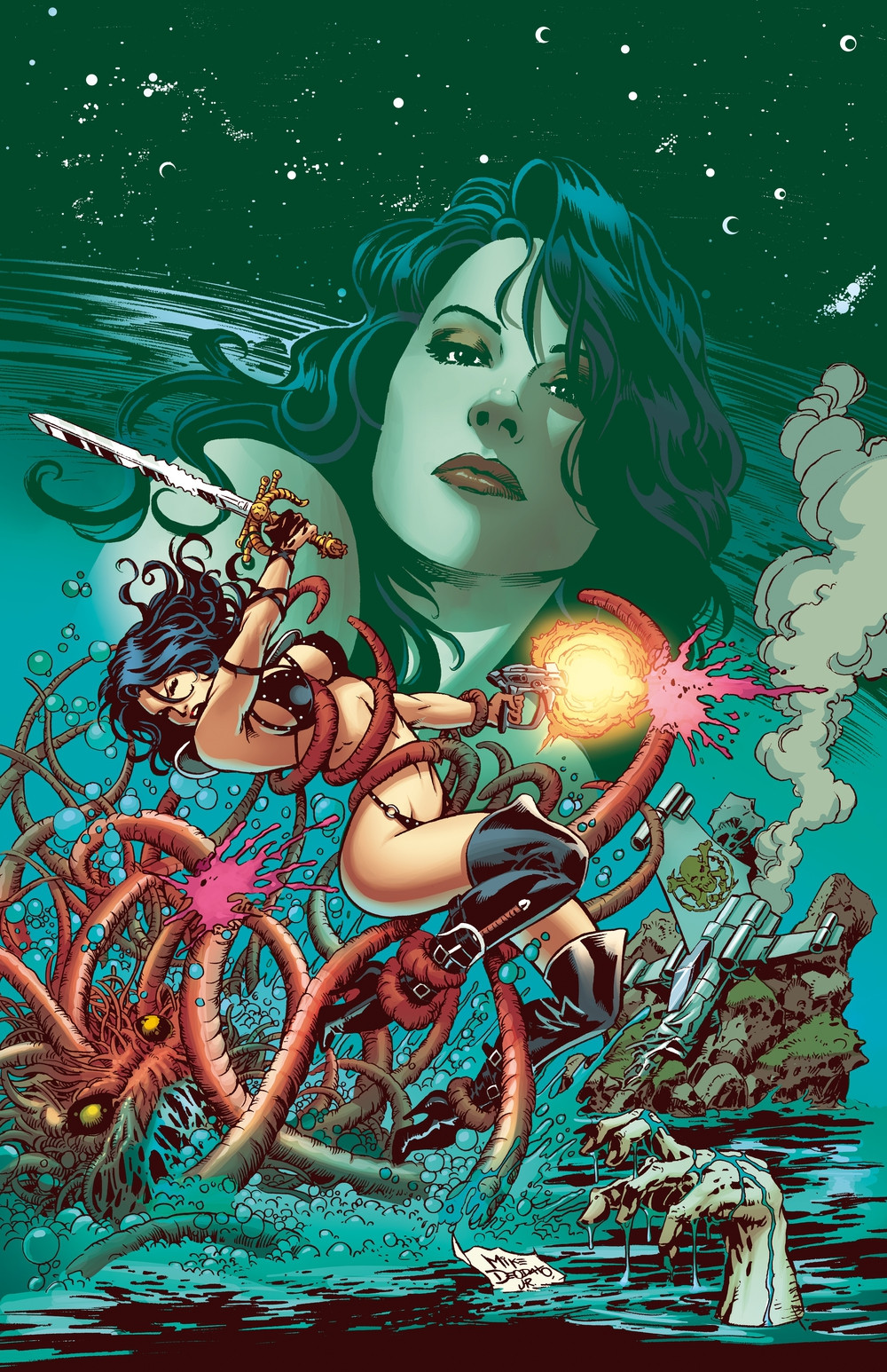 The Pirate No spaceship in the universe is safe from this terrifyingly beautiful pirate. Colors by Marco Lesko.
